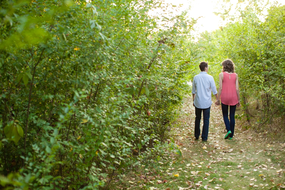 Growing in marriage, walking on a wooded path