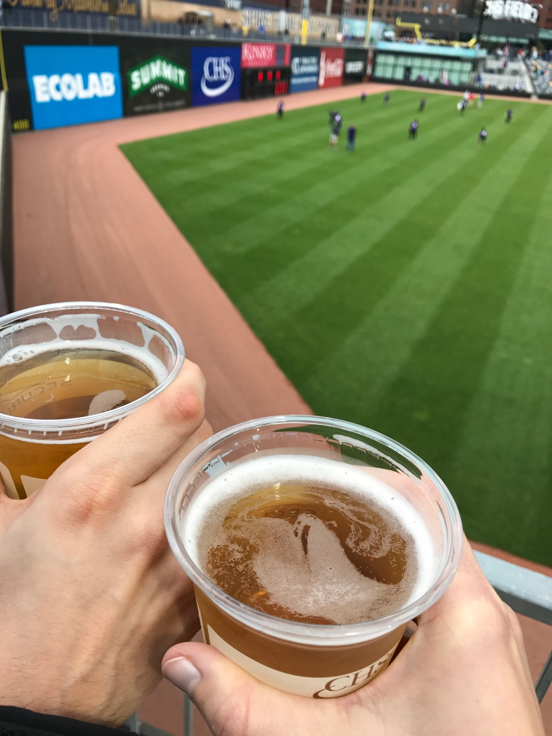 Thirsty Thursday at CHS Field at the St. Paul Saints game